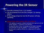 powering the ir sensor