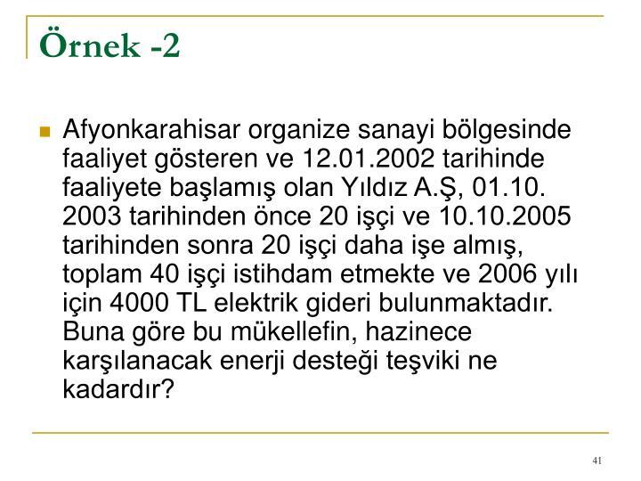 Örnek -2