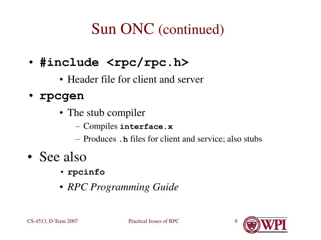 Sun ONC