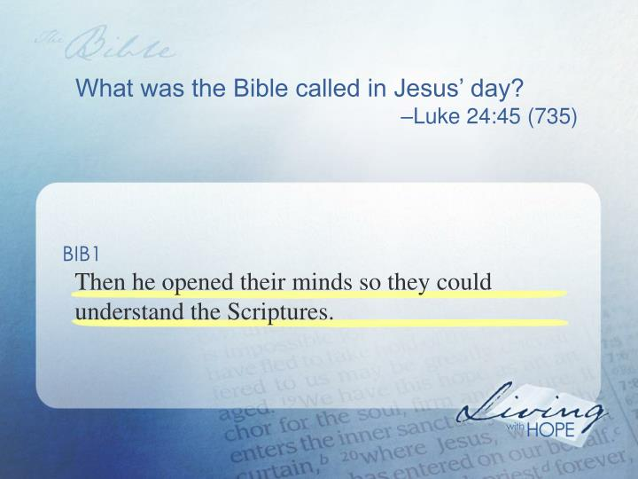 What was the Bible called in Jesus' day?