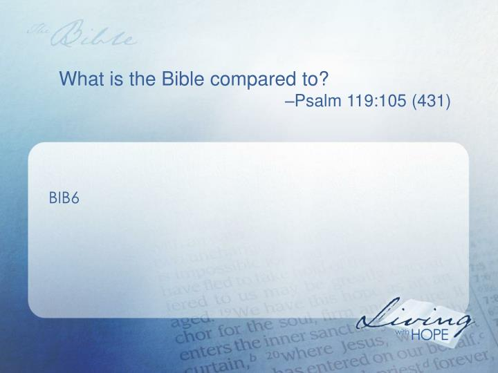 What is the Bible compared to?