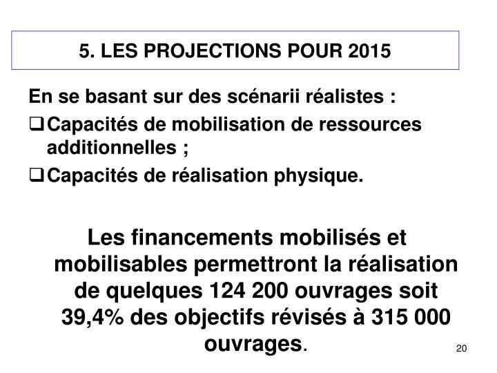 5. LES PROJECTIONS POUR 2015