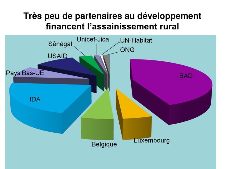 Très peu de partenaires au développement financent l'assainissement rural