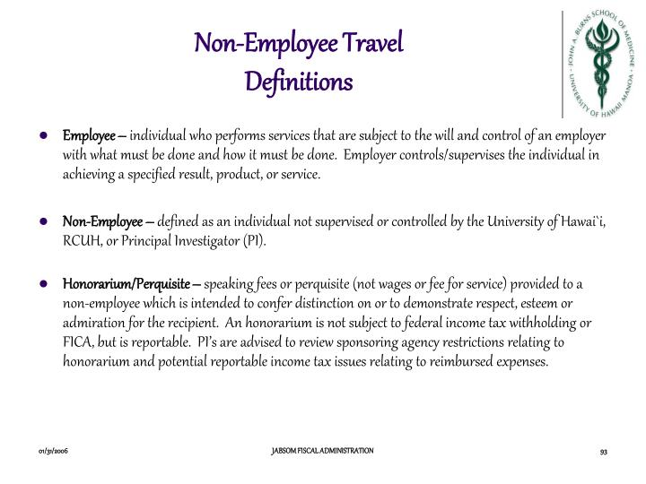 Non-Employee Travel