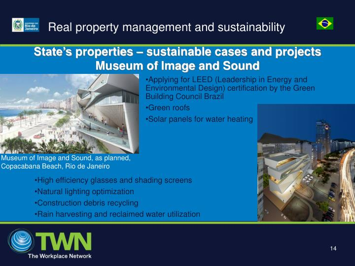 Real property management and sustainability