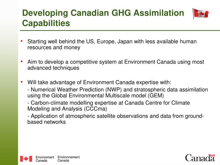 Developing Canadian GHG Assimilation Capabilities