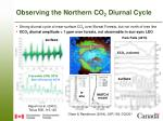 observing the northern co 2 diurnal cycle
