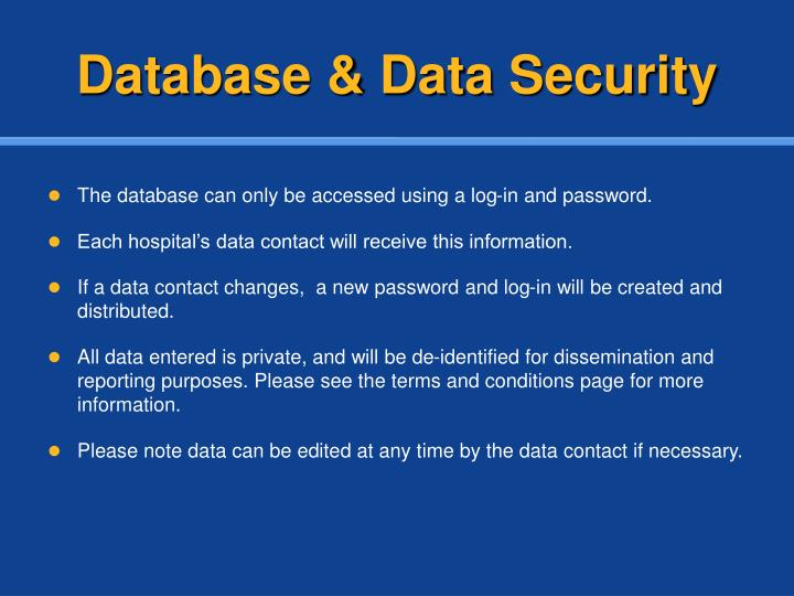 Database & Data Security