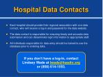 hospital data contacts