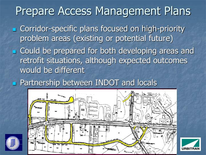 Prepare Access Management Plans