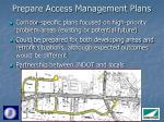 prepare access management plans