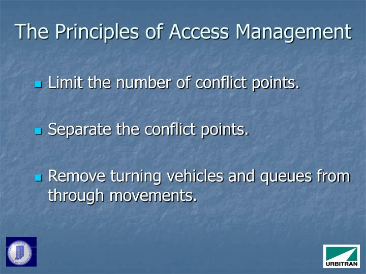 The Principles of Access Management