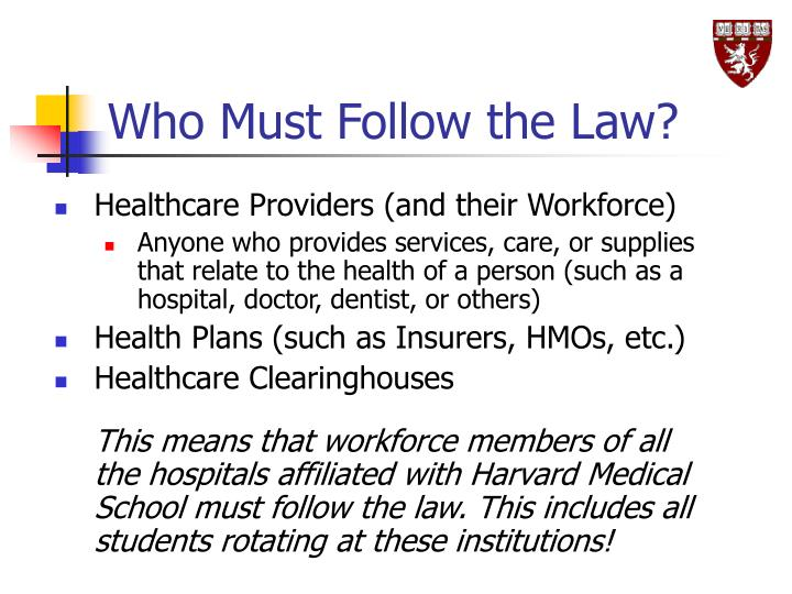 Who Must Follow the Law?