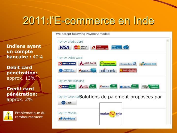 2011:l'E-commerce en Inde