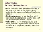 value chains targeting business process