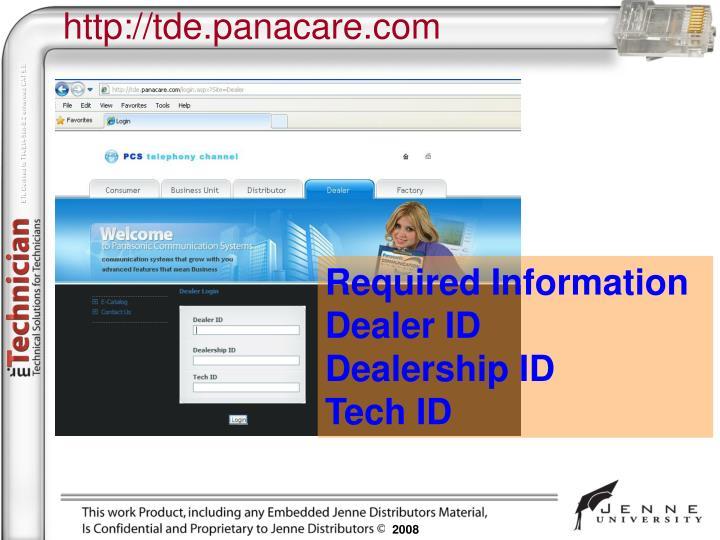 http://tde.panacare.com