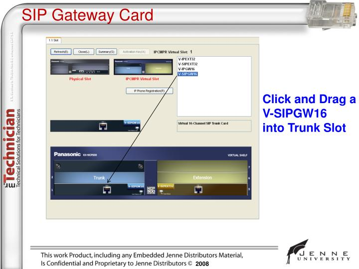 SIP Gateway Card