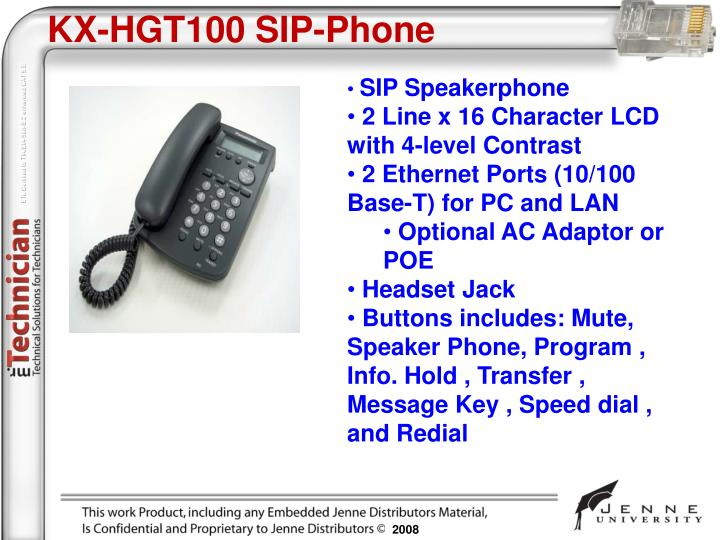 KX-HGT100 SIP-Phone