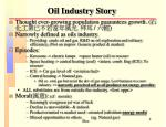 oil industry story