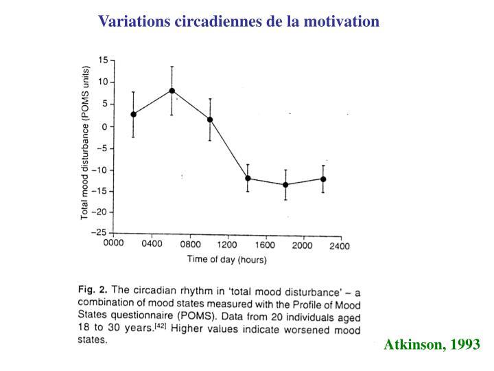 Variations circadiennes de la motivation