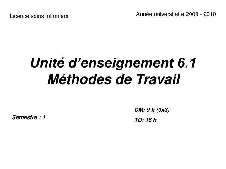 Année universitaire 2009 - 2010