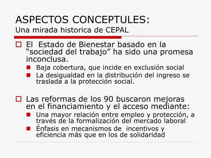 ASPECTOS CONCEPTULES: