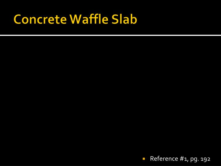 Concrete Waffle Slab