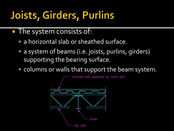 Joists, Girders, Purlins