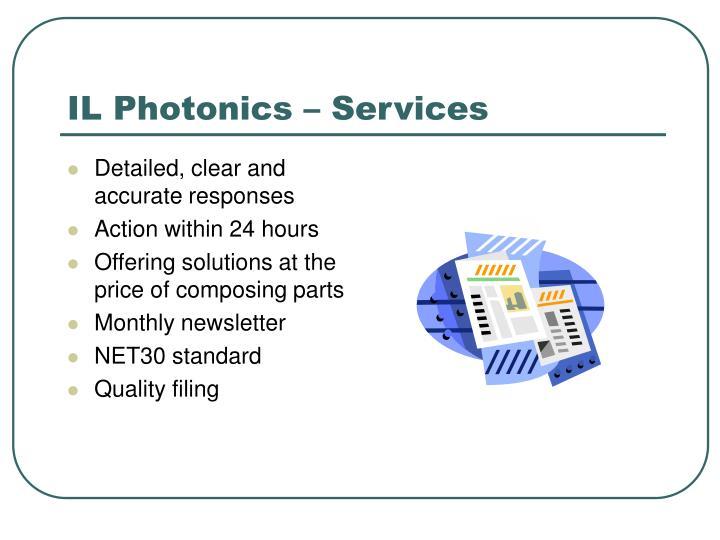 IL Photonics – Services