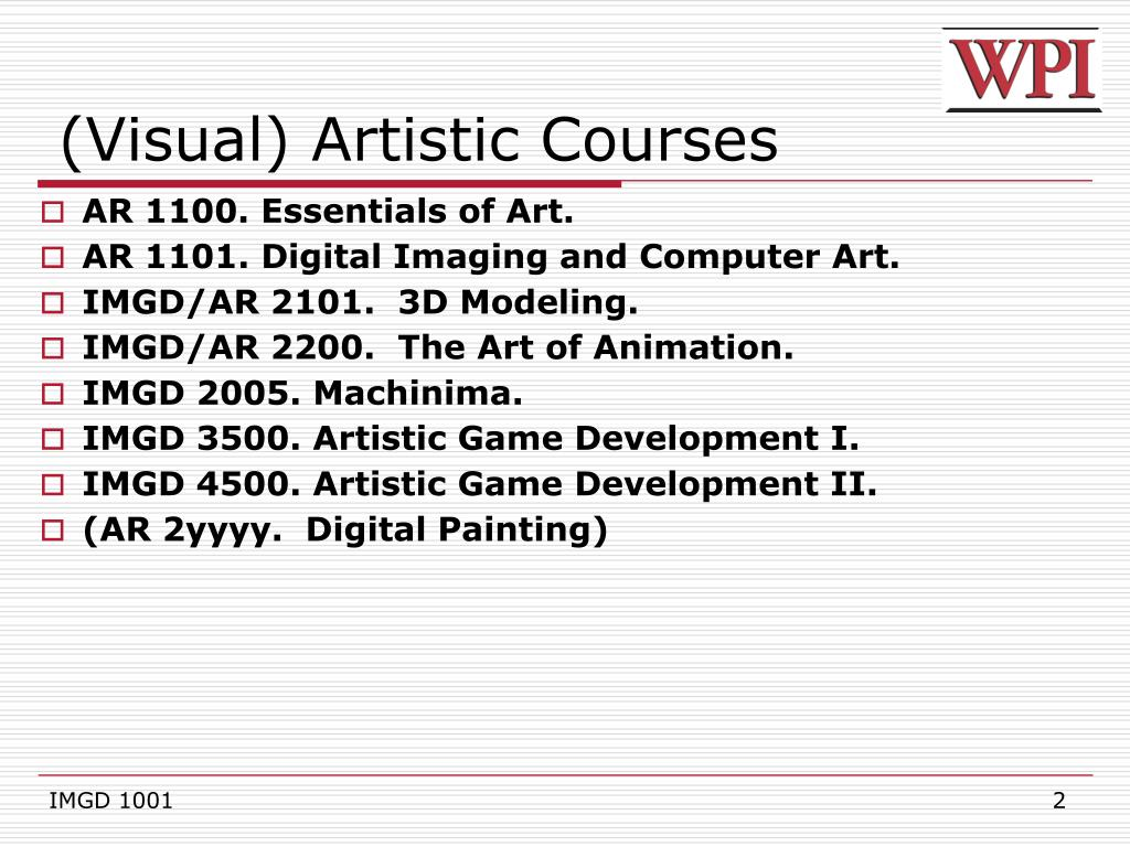 (Visual) Artistic Courses