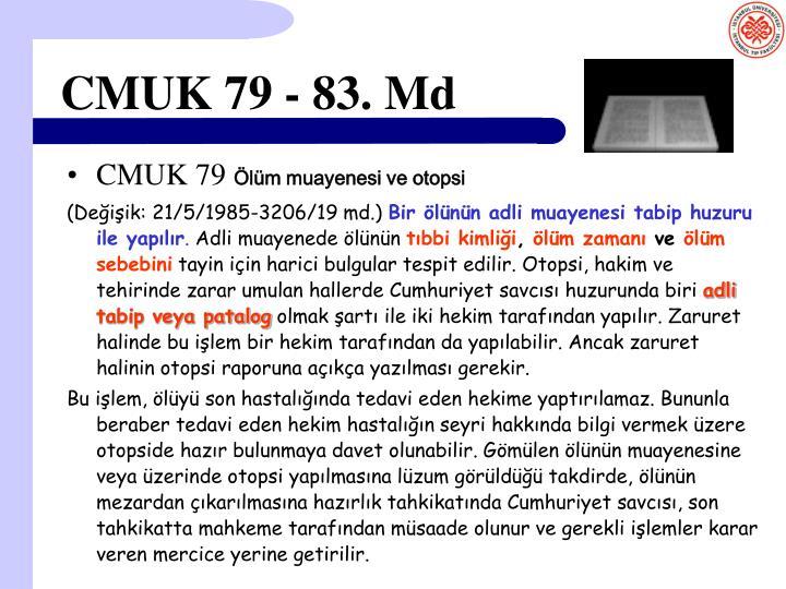 CMUK 79 - 83. Md