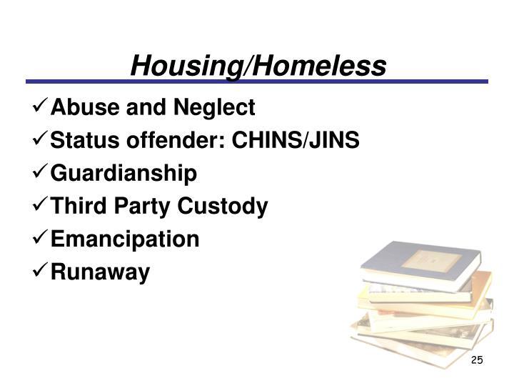 Housing/Homeless