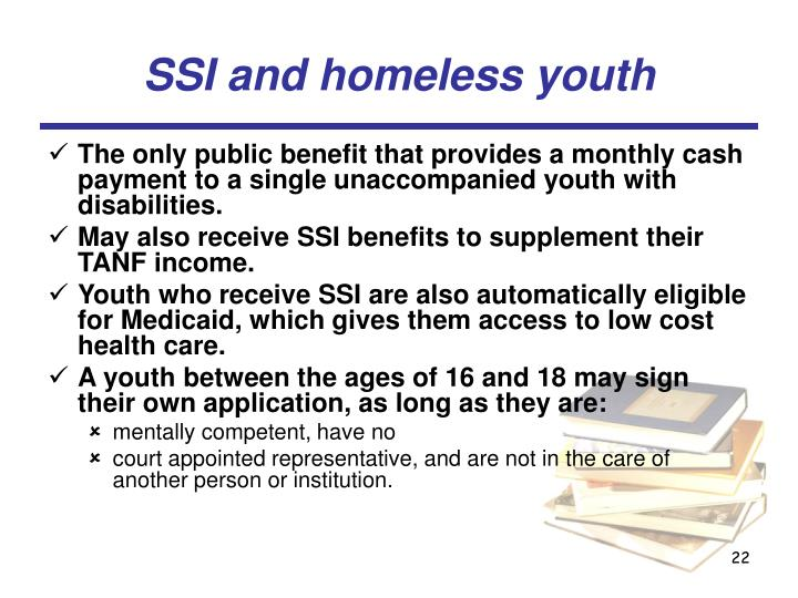 SSI and homeless youth