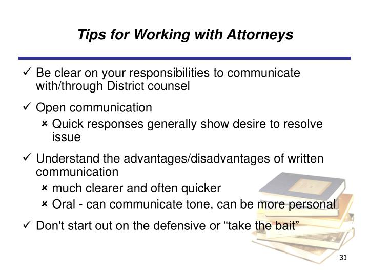 Tips for Working with Attorneys