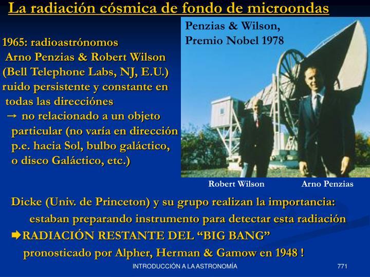 La radiación cósmica de fondo de microondas