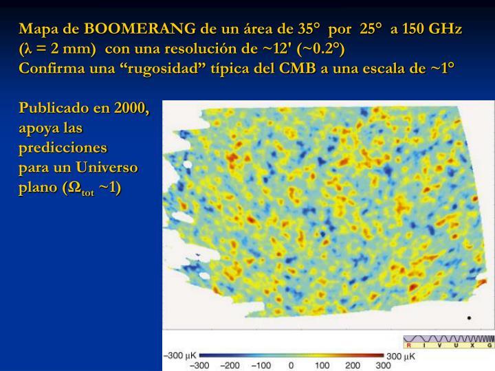 Mapa de BOOMERANG de un área de 35