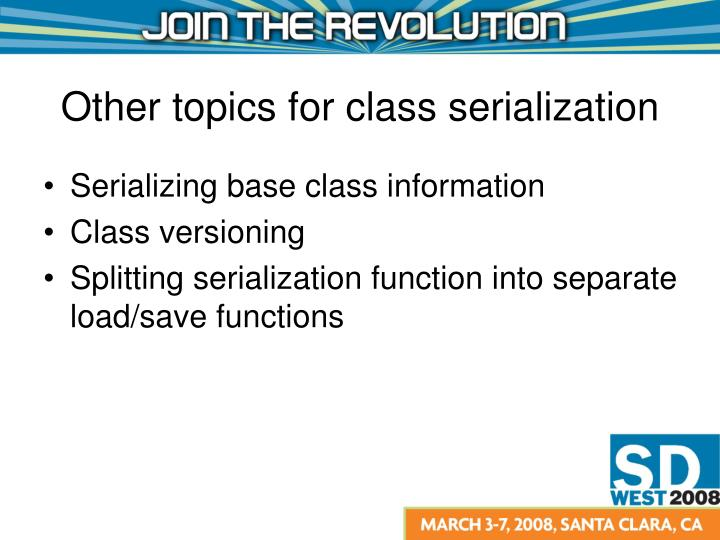 Serializing base class information