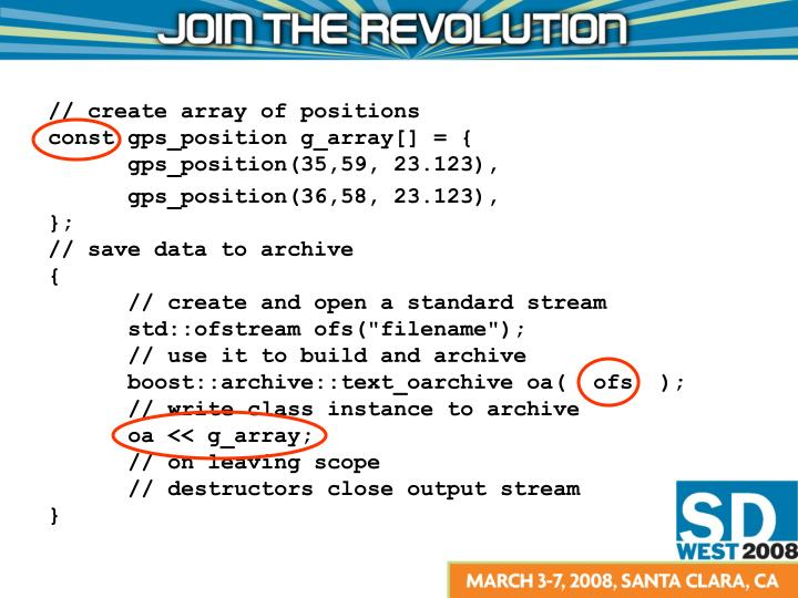// create array of positions