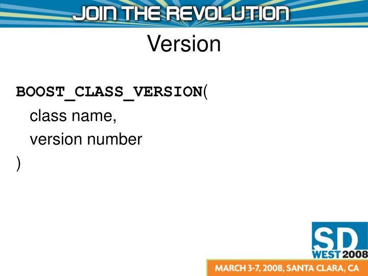 BOOST_CLASS_VERSION