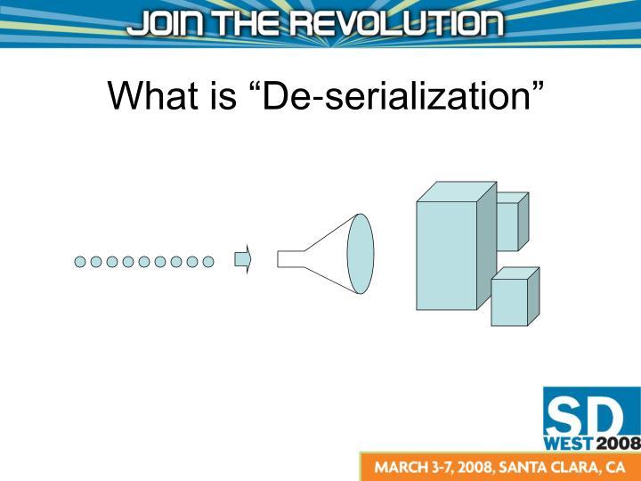 """What is """"De-serialization"""""""