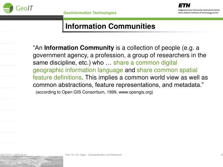 Information Communities