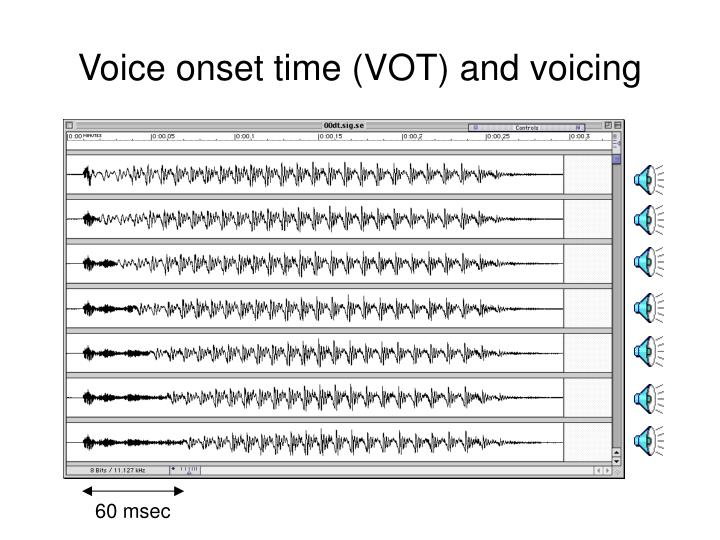 Voice onset time (VOT) and voicing