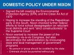 domestic policy under nixon1