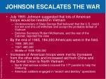 johnson escalates the war2