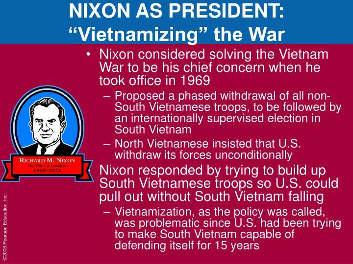 NIXON AS PRESIDENT: