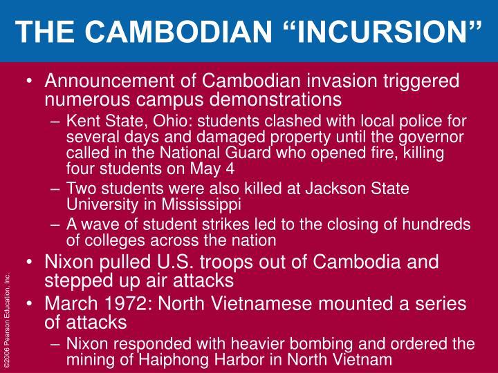 "THE CAMBODIAN ""INCURSION"""