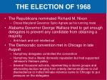 the election of 19683