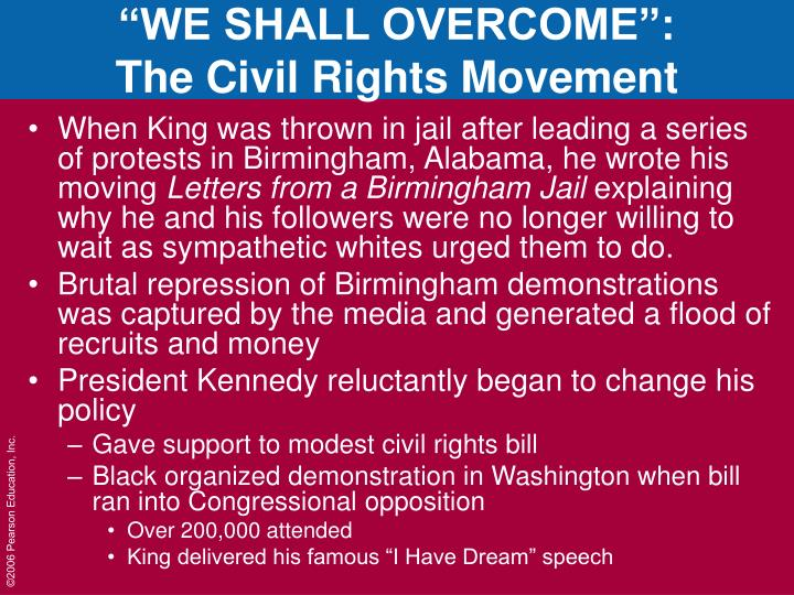 """WE SHALL OVERCOME"":"