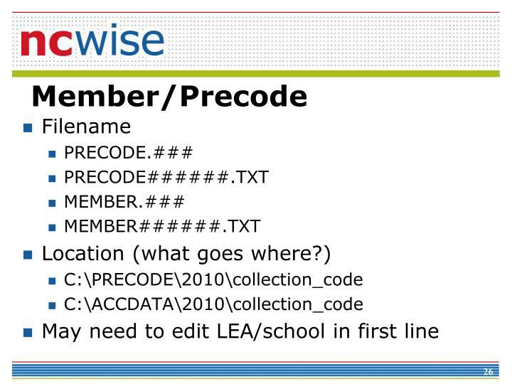 Member/Precode