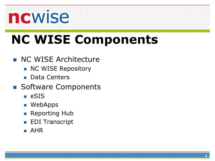 NC WISE Architecture